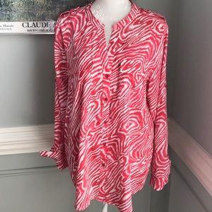 Calvin Klein Gorgeous Coral / Pink Blouse SZ XL